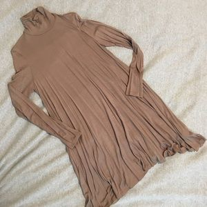 NEW Beige Turtleneck Dress